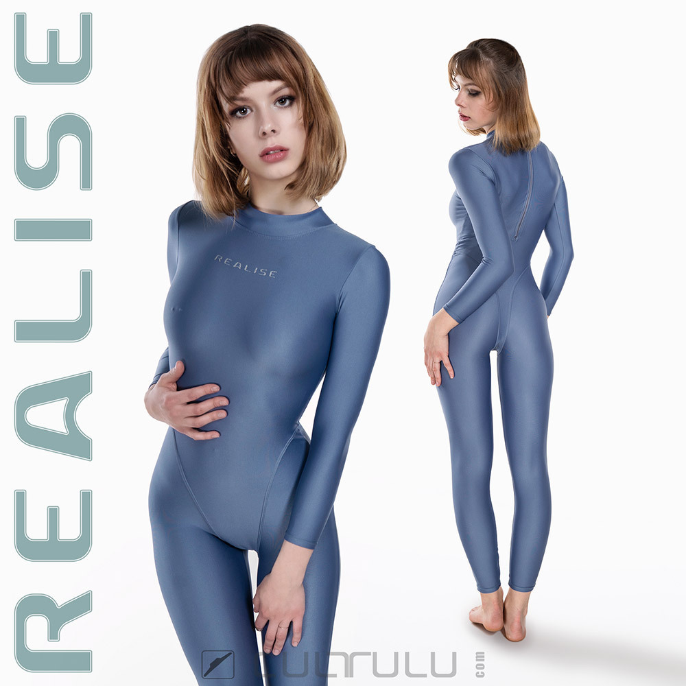 REALISE FB-001 catsuit full body swimsuit greyblue