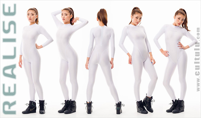 Realise catsuit white 2