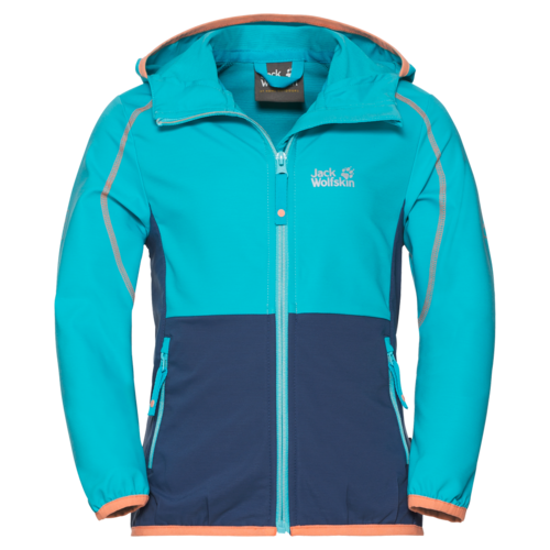 Jack Wolfskin Turbulence Girls Softshell Jacke -  lake blue