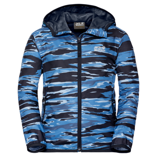 Jack Wolfskin Coastal Wave Kids Unisex Windjacke - night blue all over