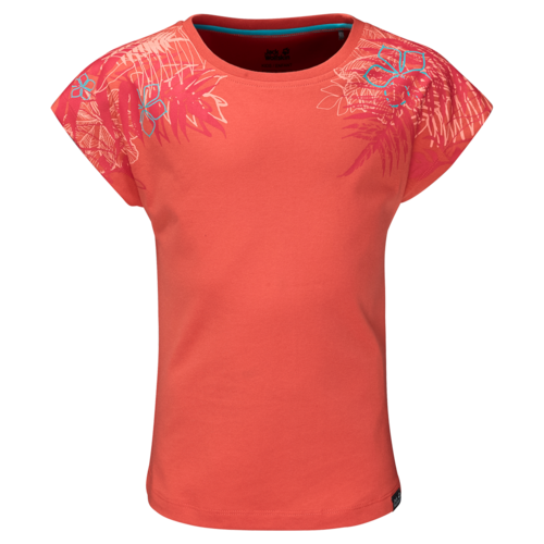 Jack Wolfskin Orchid T Girls T-Shirt - hot coral