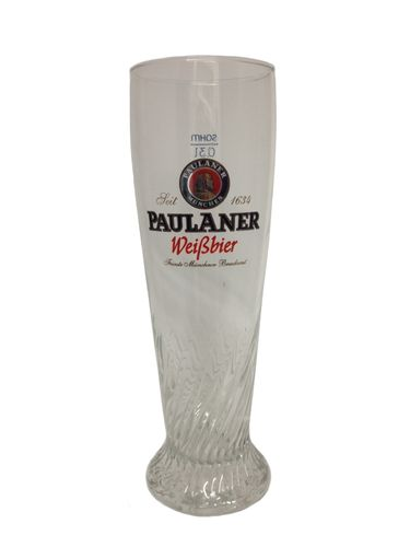 "Paulaner - German Beer Glass - 0.3 Liter - ""Weissbier"" - NEW"